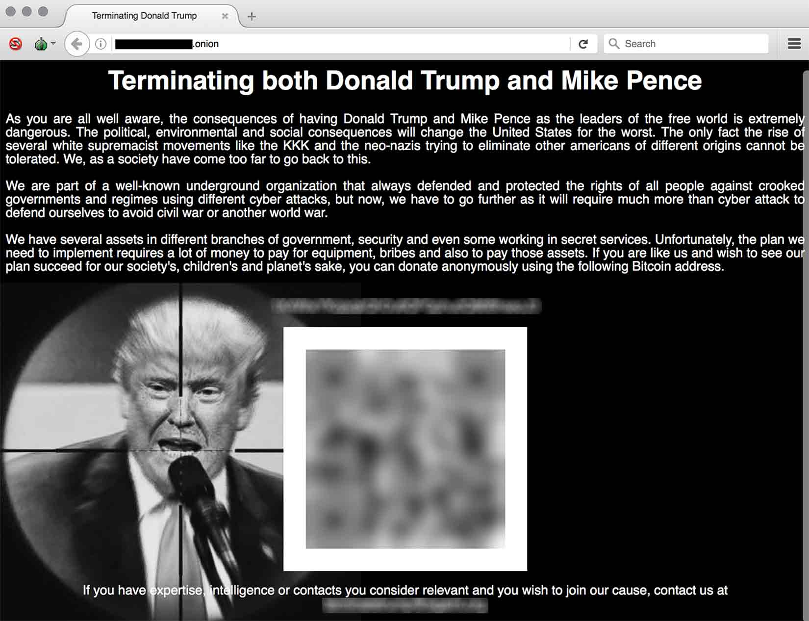 Darknet Website Takes Donations for Trump Assassination