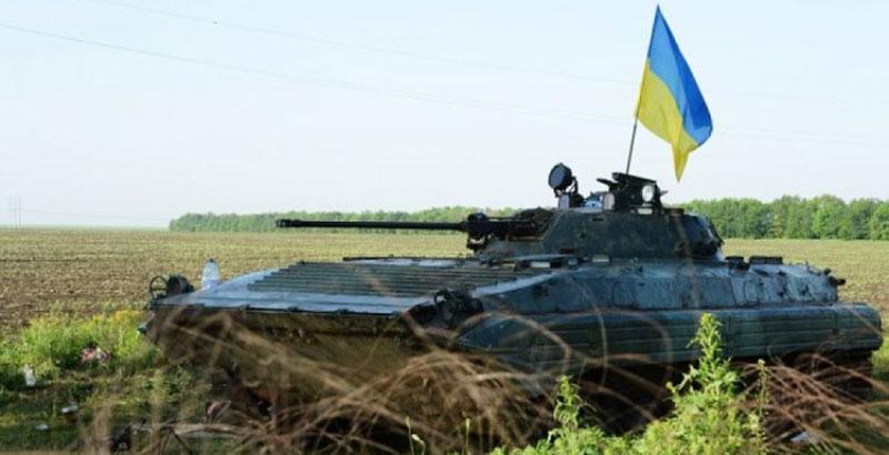 Ukrainian Serviceman with Infantry Combat Vehicle Surrenders to Donbass People's Militia
