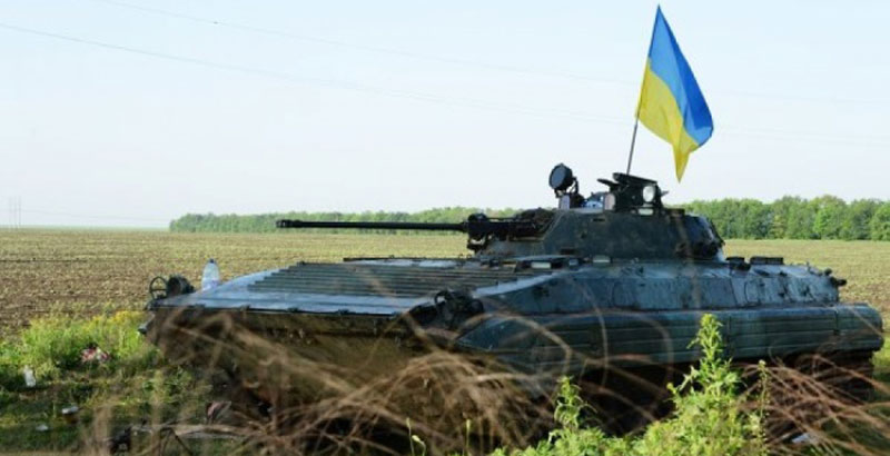 Ukrainian Serviceman with Infantry Combat Vehicle Surrenders to Donbass People's Militia