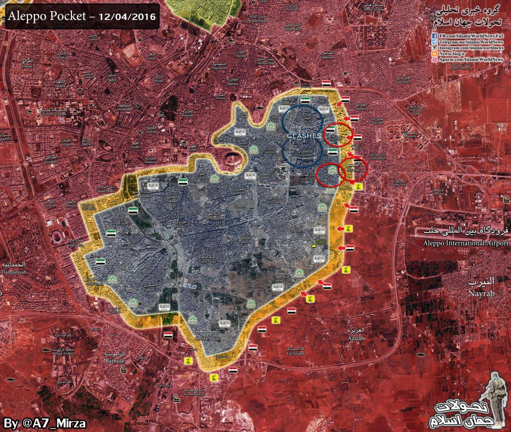 Syrian Army Makes Major Advances in Aleppo, Liberate 3 Neighborhoods and Enters 2 Others