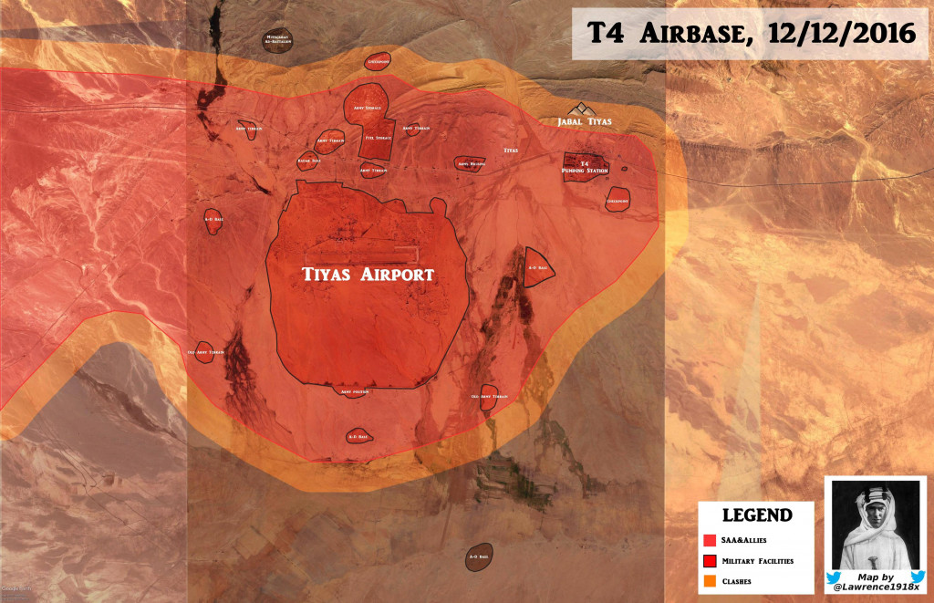 Detailed Look At Military Situation In The Area Of Tyas Airbase West Of Palmyra (Map Update)