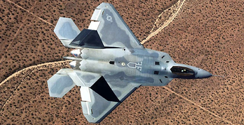 American F-22 Raptor Fighter Jets Lose Anti-Radar Coating in Syria