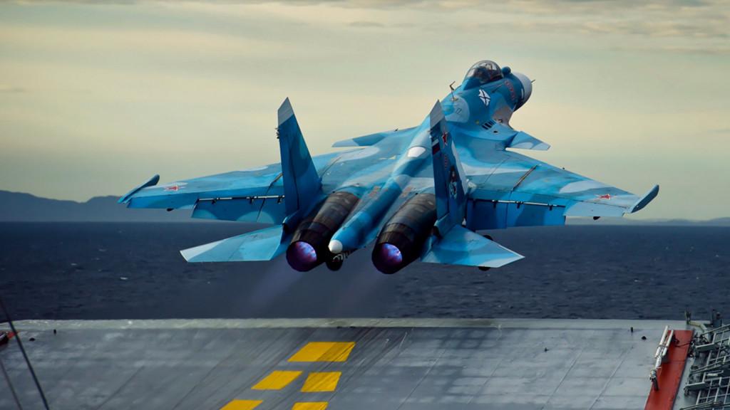Su-33 From Russia's Admiral Kuznetsov Crashed In The Mediterranean