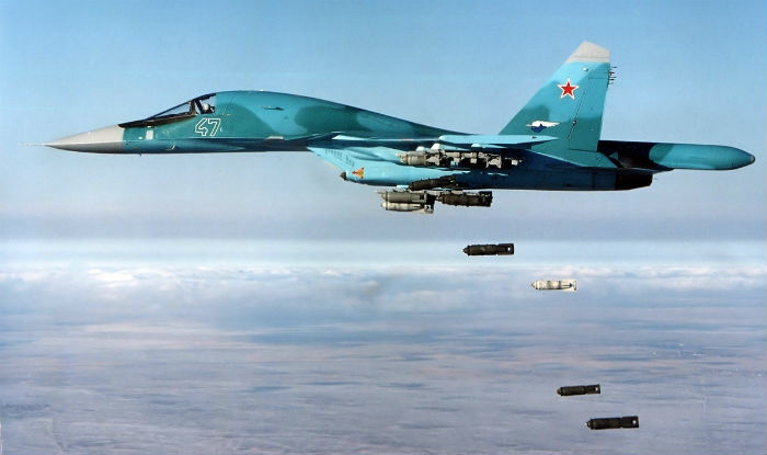 Russian Jets Light Up ISIS Terrorists Near Palmyra