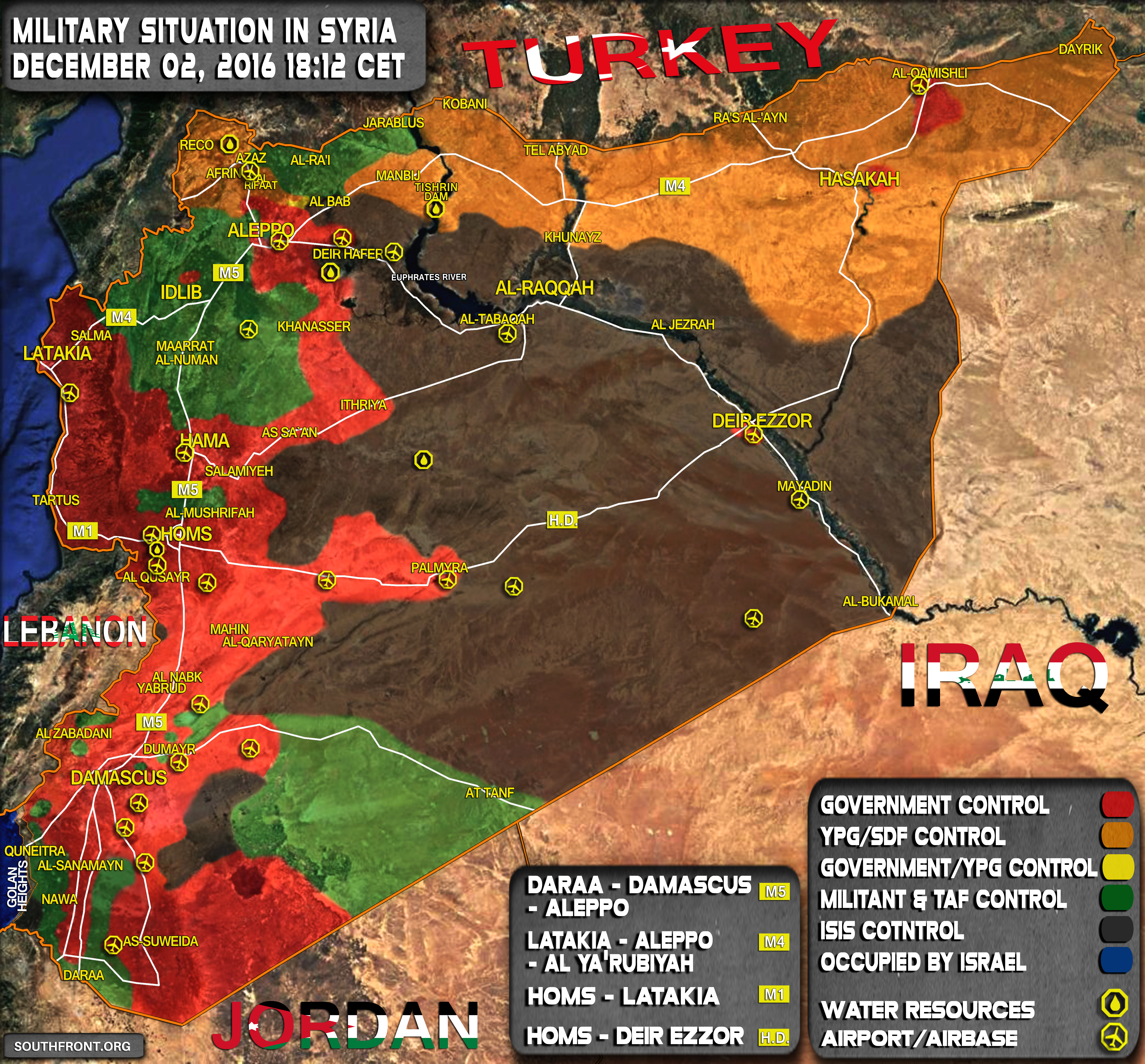Military Situation in Syria on December 2, 2016
