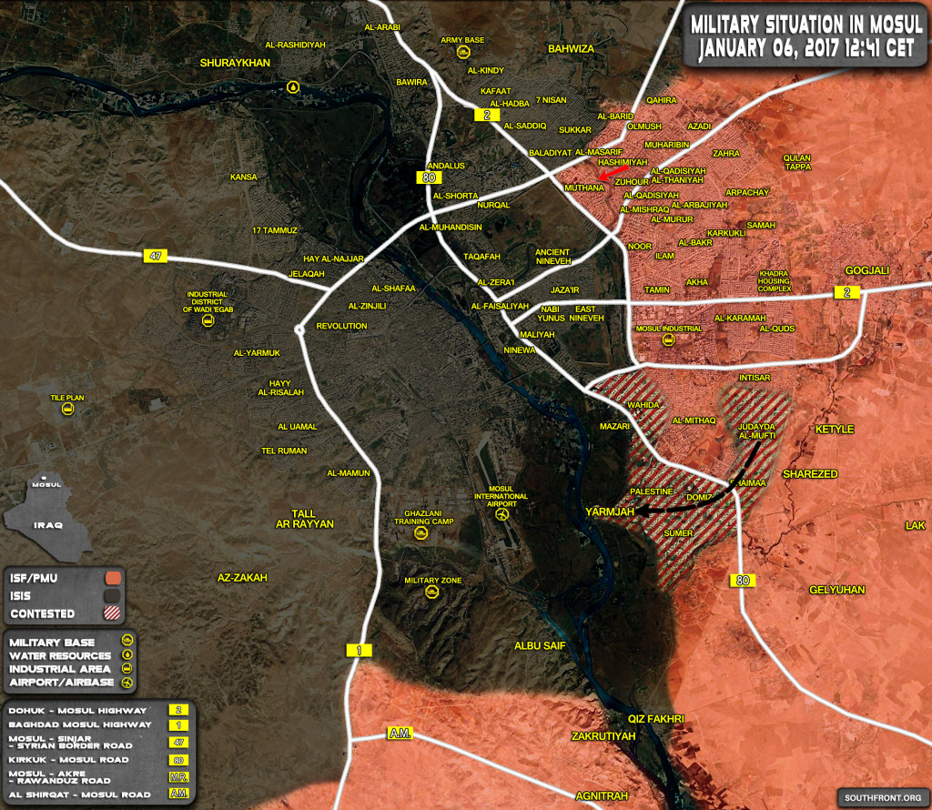 Iraqi Security Forces Take Control Of Al-Muthana District In Eastern Mosul