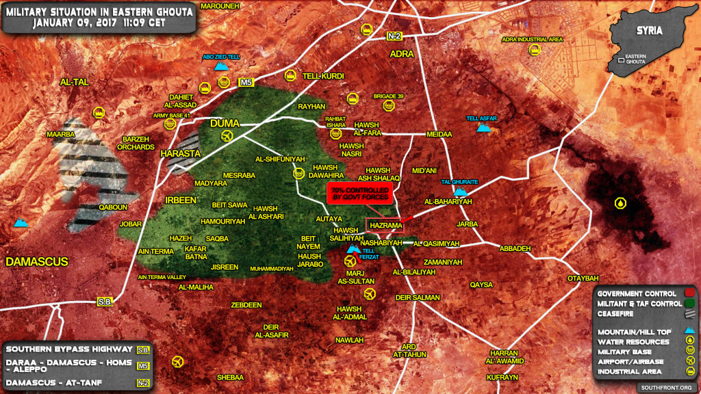 Syrian Government Forces Break Jaish al-Islam Defenses In Eastern Ghouta, Enter Important Town (Map Update)
