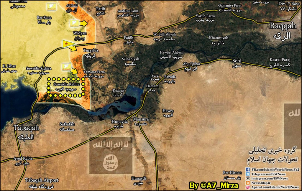 YPG Forces Advance On ISIS In Al-Raqqah Province (Syria Map Update)