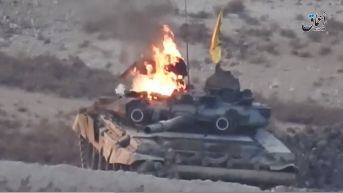 ISIS Destroyed Russian-Made T-90 Tank East Of Khanaser (Photo, Video)