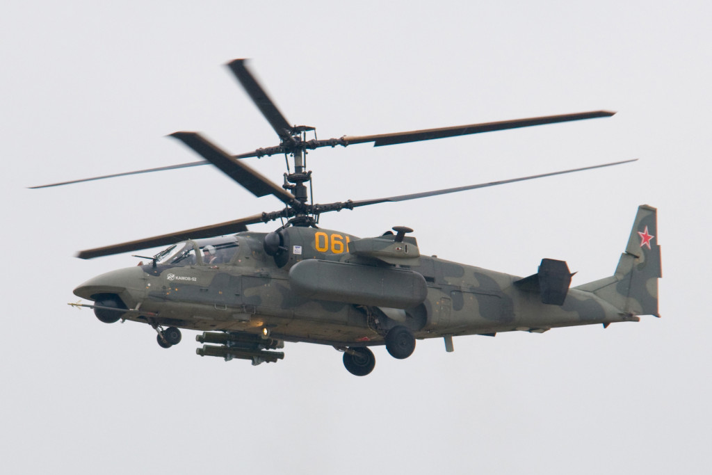 Russian Ka-52 Combat Helicopters and Su-25 Attack Aircraft Increase Air Support To Syrian Army's Operation Near Palmyra