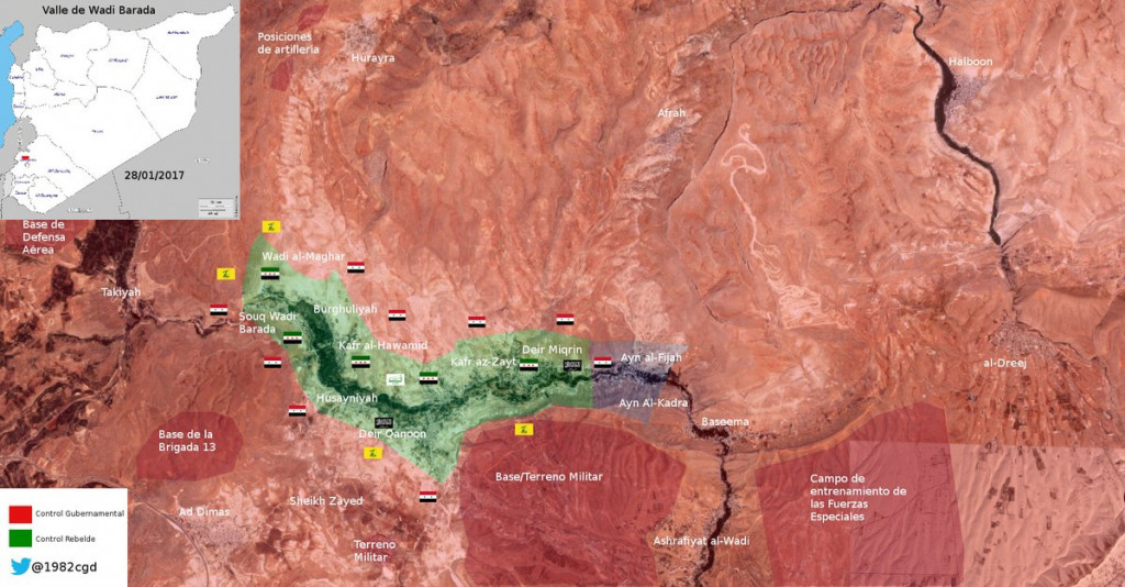 Syrian Army Declares Full Control Over Ayn al-Fijah And Water Spring. Engineer Teams Work To Restore Water Supplies To Damasucs