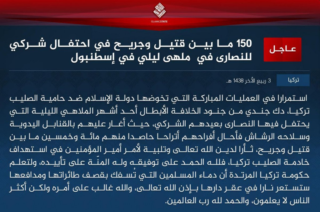 ISIS Claims Responsibility For Istanbul Nightclub Attack