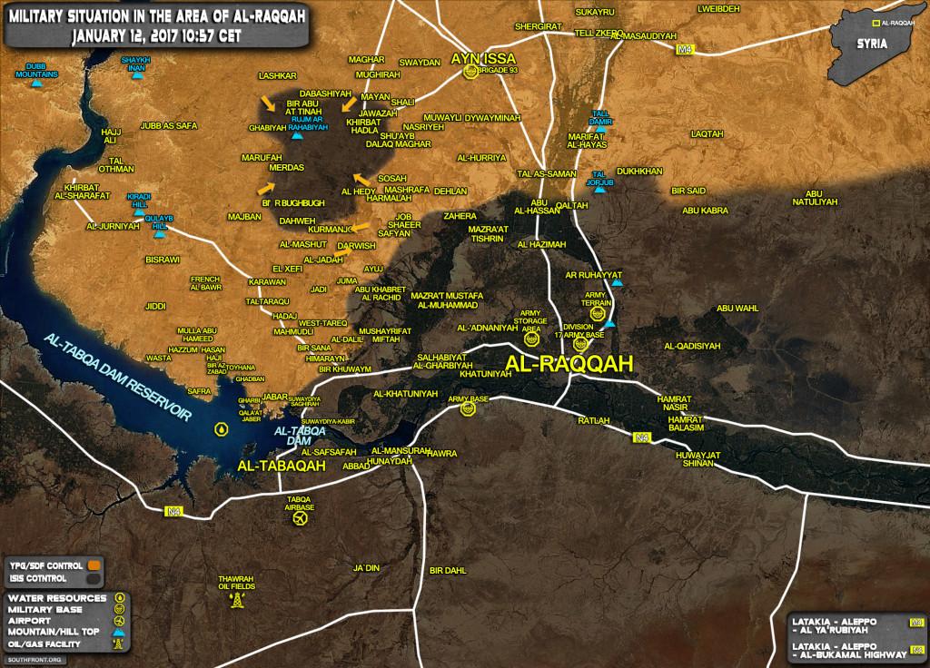 ISIS Pocket Shrinking Under YPG Pressure Near Al-Raqqa (Syria Map Update)
