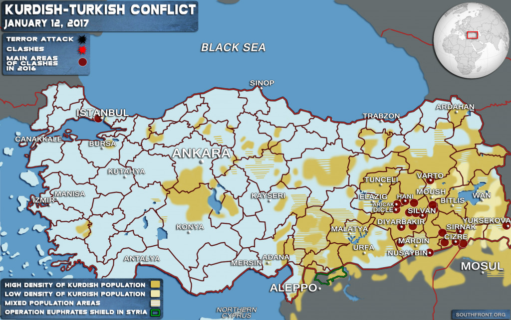 Turkish-Kurdish Conflict (Map Update)