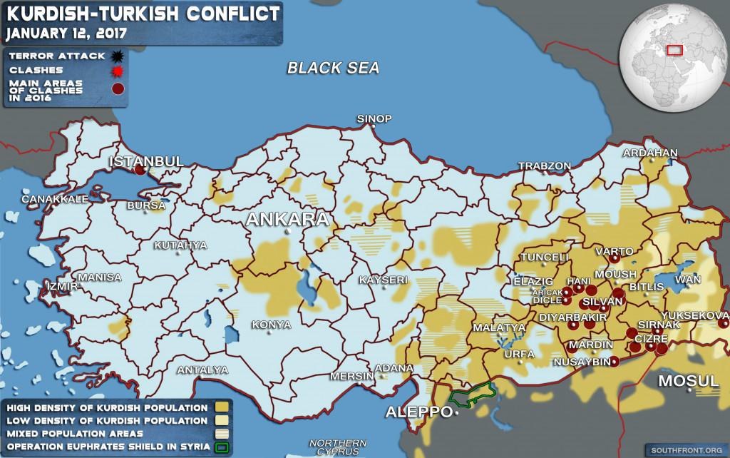 Turkish-Kurdish Conflict (Map Update)