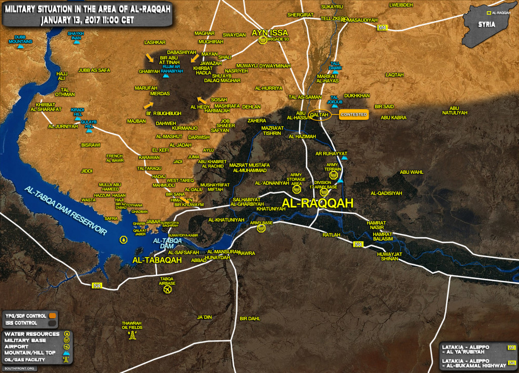 YPG Seized ISIS Pocket Southwest of Ayn Issa In Raqqah Province