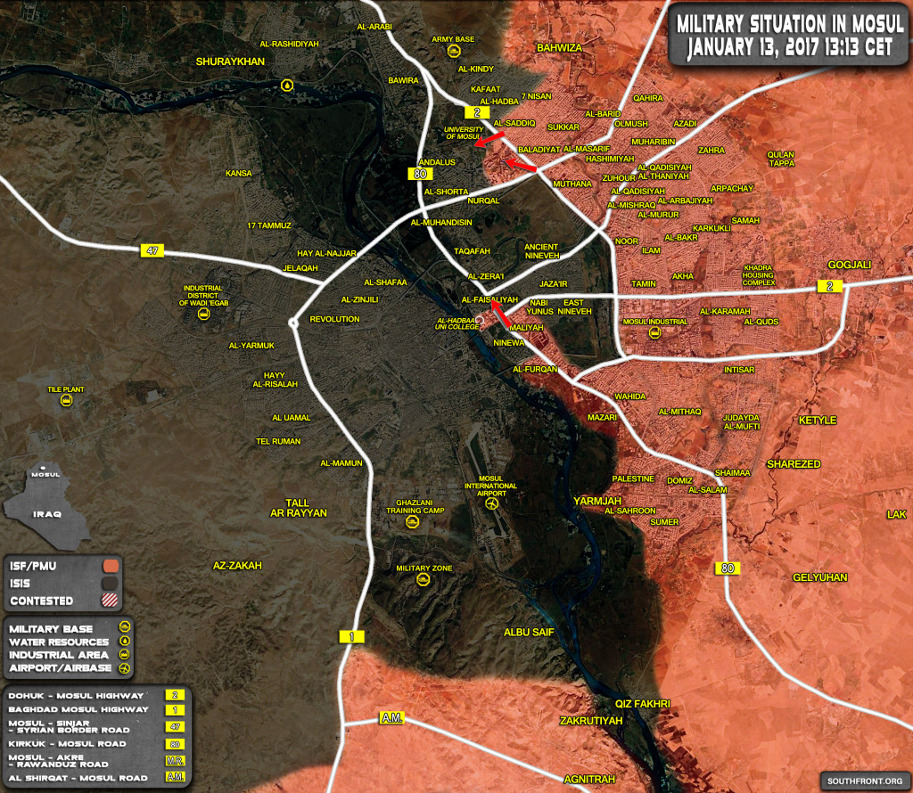 Iraqi Security Forces Storming University Of Mosul (Map, Photos)