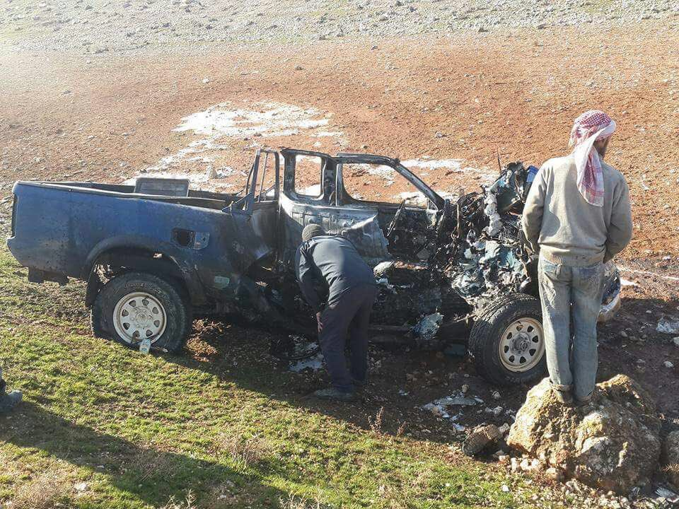 Two Fatah al-Sham (al-Nusra) Commanders Killed By Alleged US Air Strike In Idlib - Photos