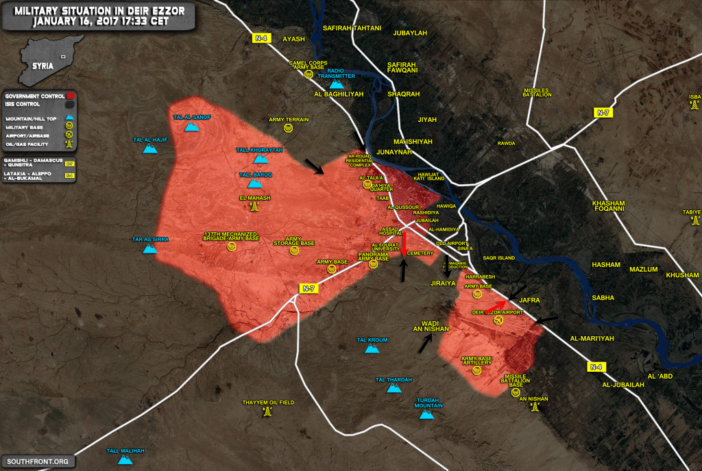 Military Situation In Deir Ezzor As ISIS Splits Government-Held Pocket Into Two (Map Update)