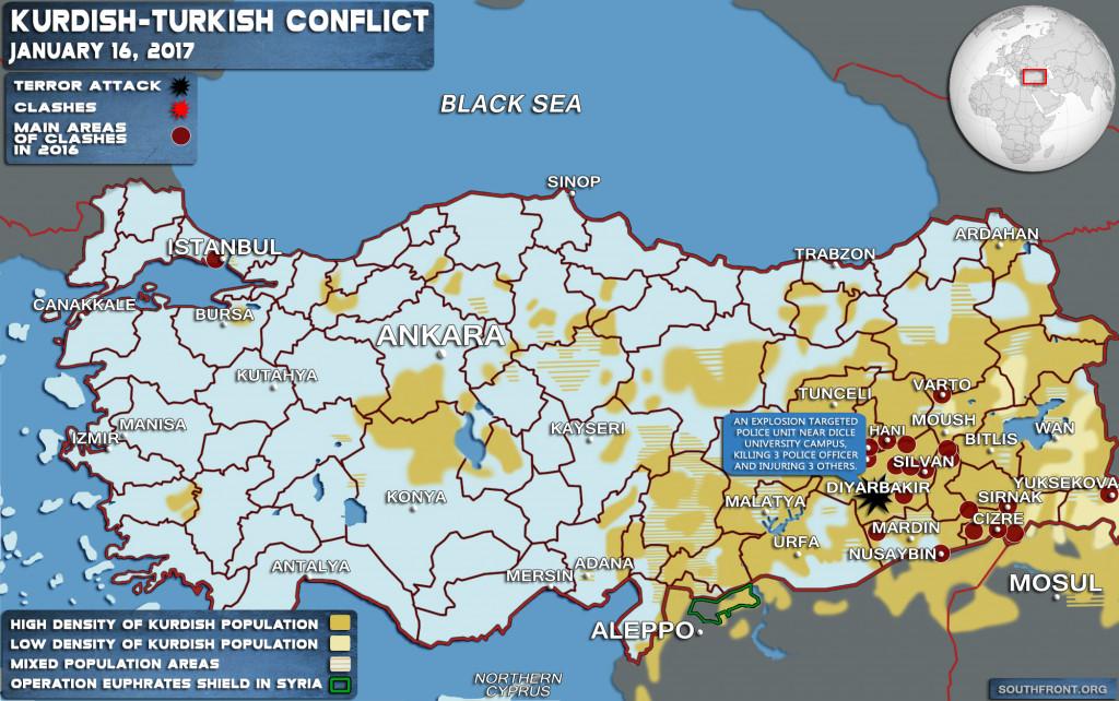 Explosion Kills 1 Police Officer, Injures 3 Others In Turkey's Diyarbakır