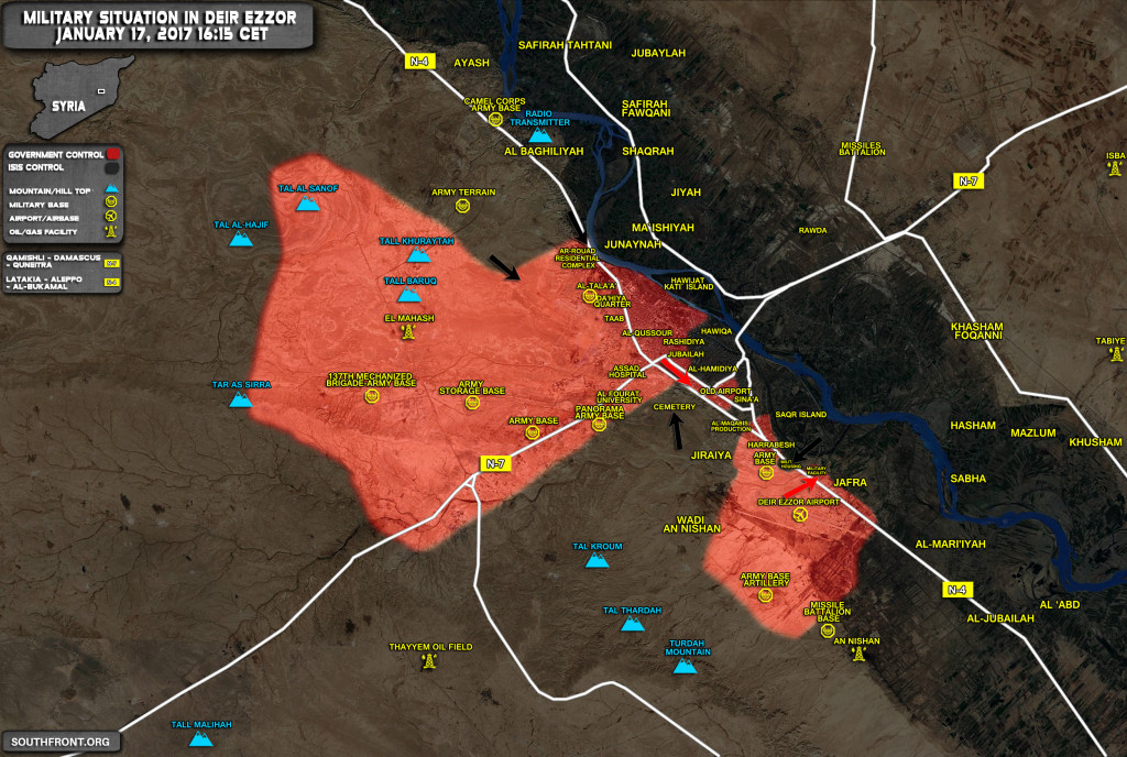 Overview Of Military Situation In Deir Ezzor On January 17, 2016