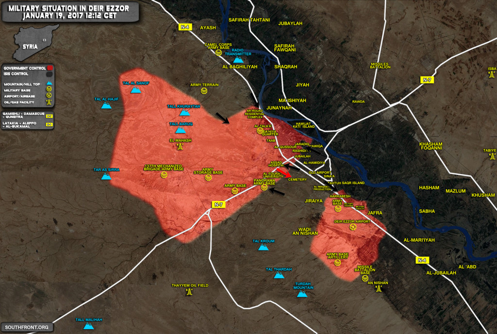 Clashes Continue In Deir Ezzor. Russian Plane Drops Supplies To Government-Held Area