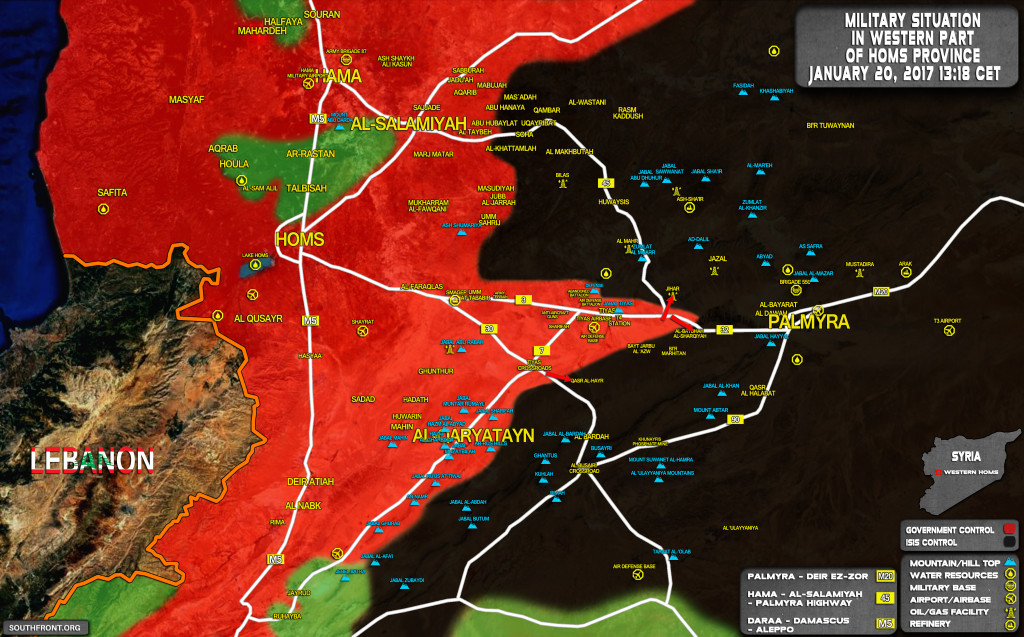 Syrian Army Recaptures From ISIS Areas South Of Tiyas Airport