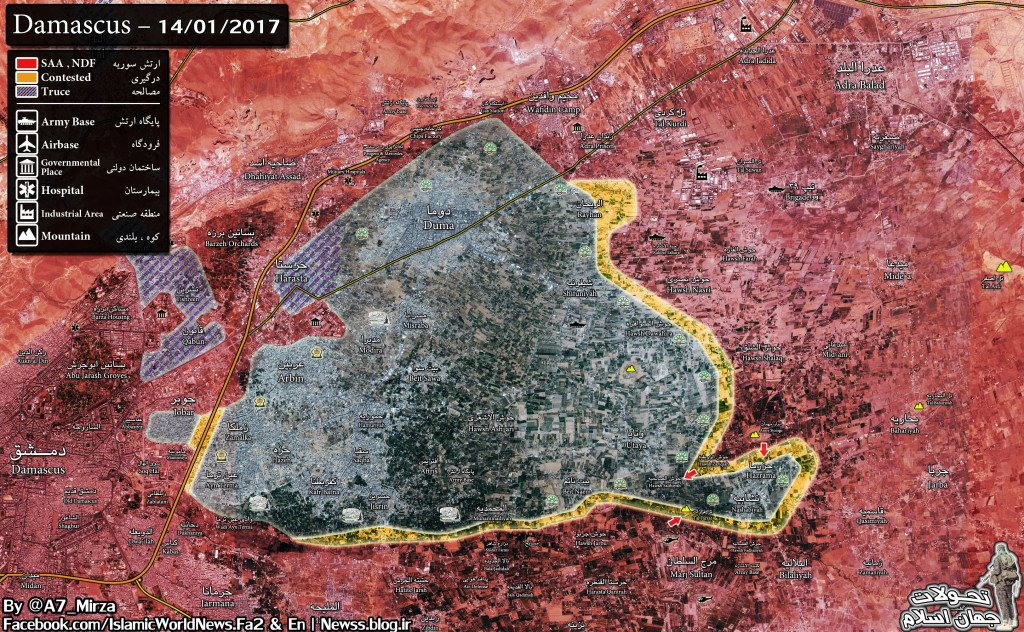 Government Forces Advancing On Militant Strongholds In Eastern Ghouta