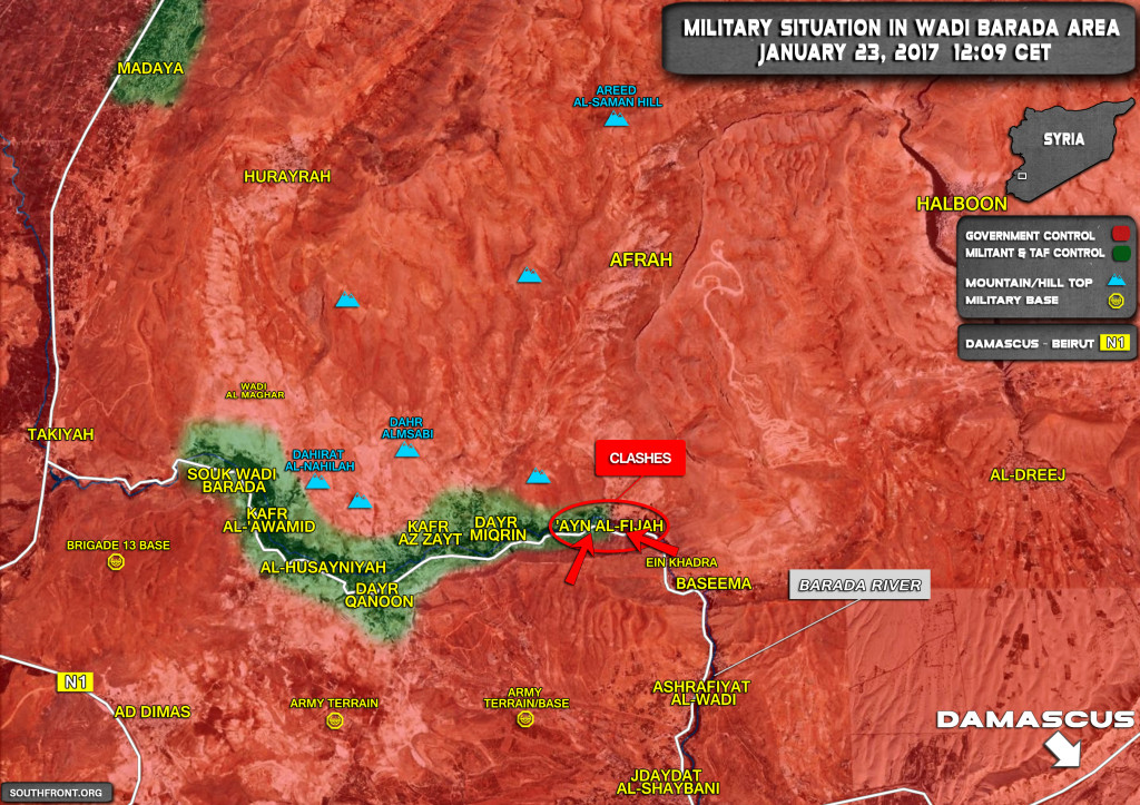 Syrian Govt, Militants Relaunch Talks Over Peaceful Settlement In Wadi Barada