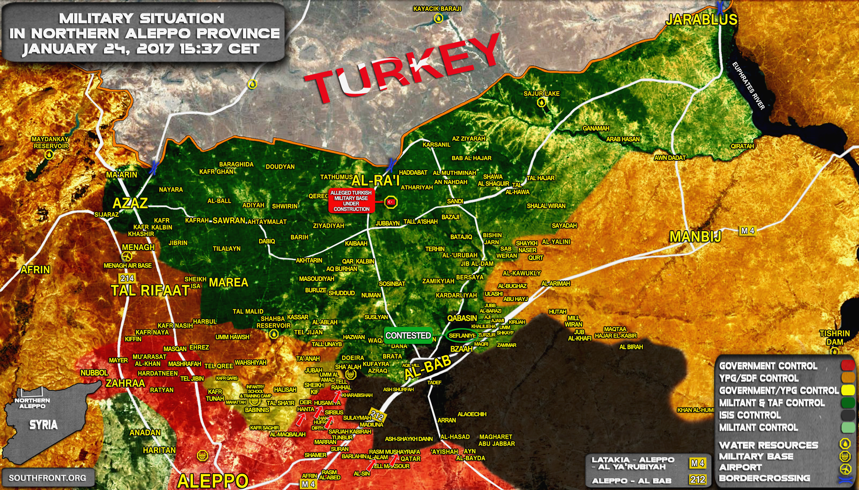 Forces Liberate More Villages In Eastern Aleppo Reach Turkey - Map of syria and turkey
