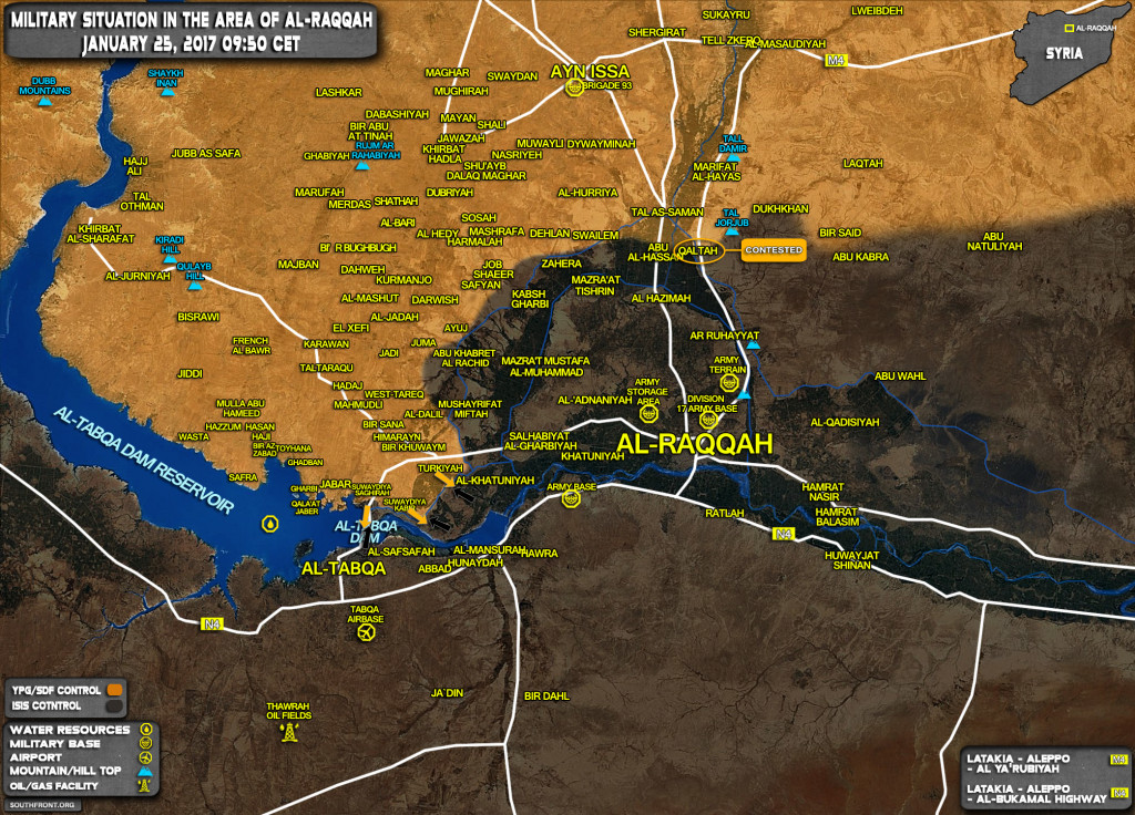 Kurdish YPG Forces Repel ISIS Counter-Attack In Al-Raqqah Province (Map)