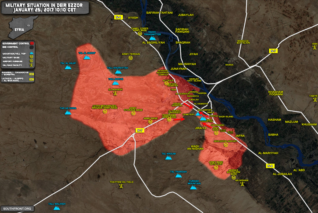 Syrian Army Is Close To Breaking ISIS Siege Of Deir Ezzor Airport