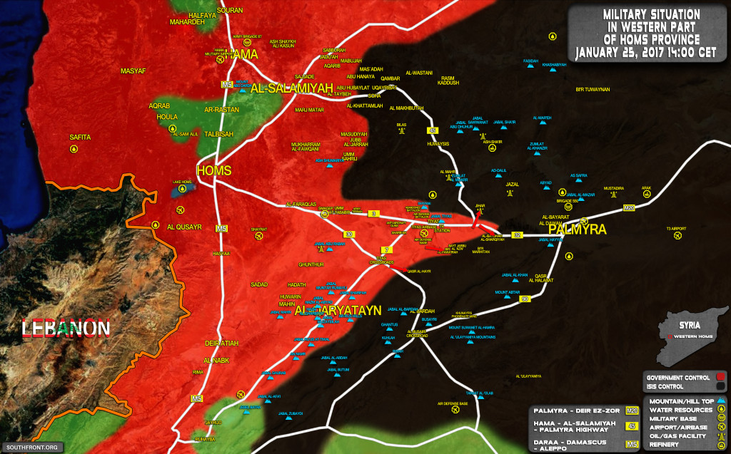 Government Forces Retakes Village From ISIS Near Tiyas Airbase (Map Update)