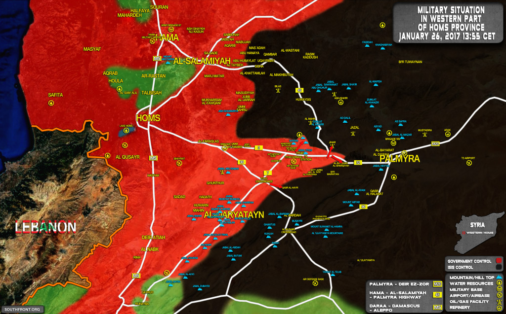 Syrian Army Further Expands Buffer Zone Near Tiyas Airbase (Map Update)