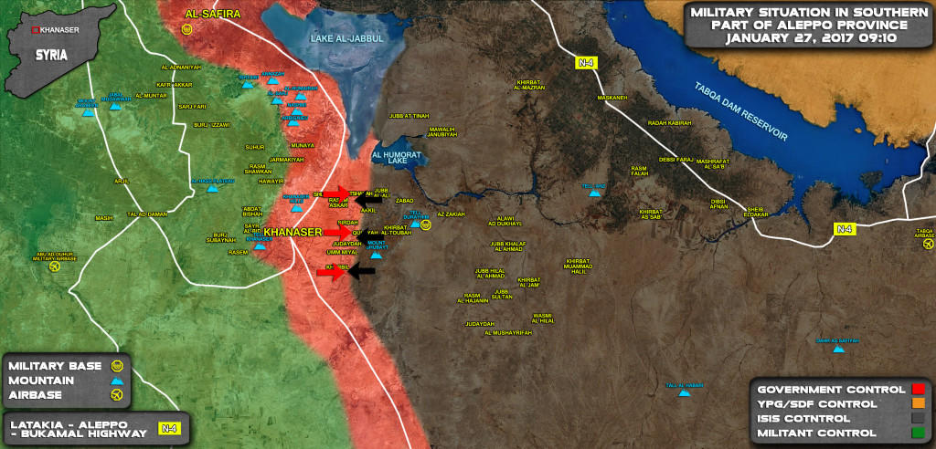 Khanaser-Aleppo Road And Syrian Army's Strategy To Defend It From Terrorists