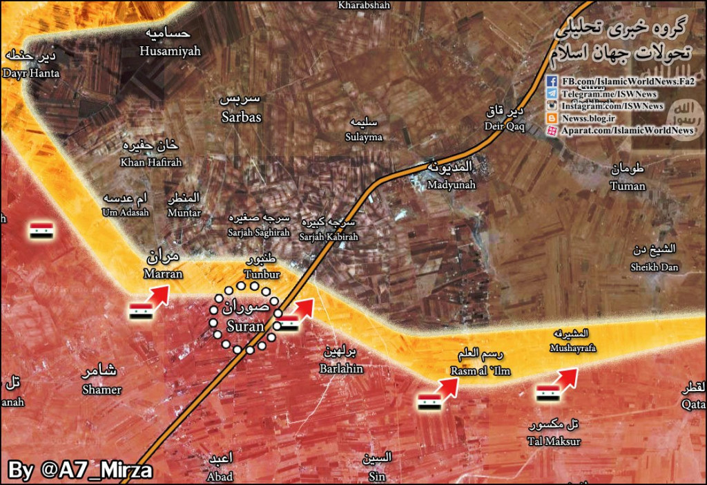 Syrian Army Liberates From ISIS Village Of Suran Near Al-Bab