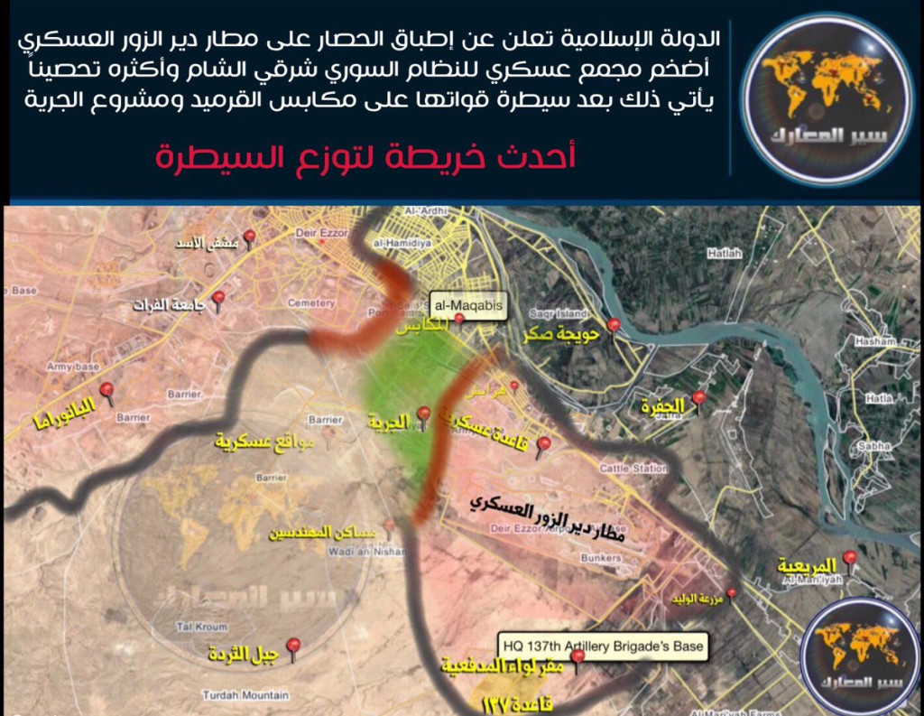 ISIS Cuts Off Supply Line To Deir Ezzor Airbase, Claims It's Encircled (Maps)