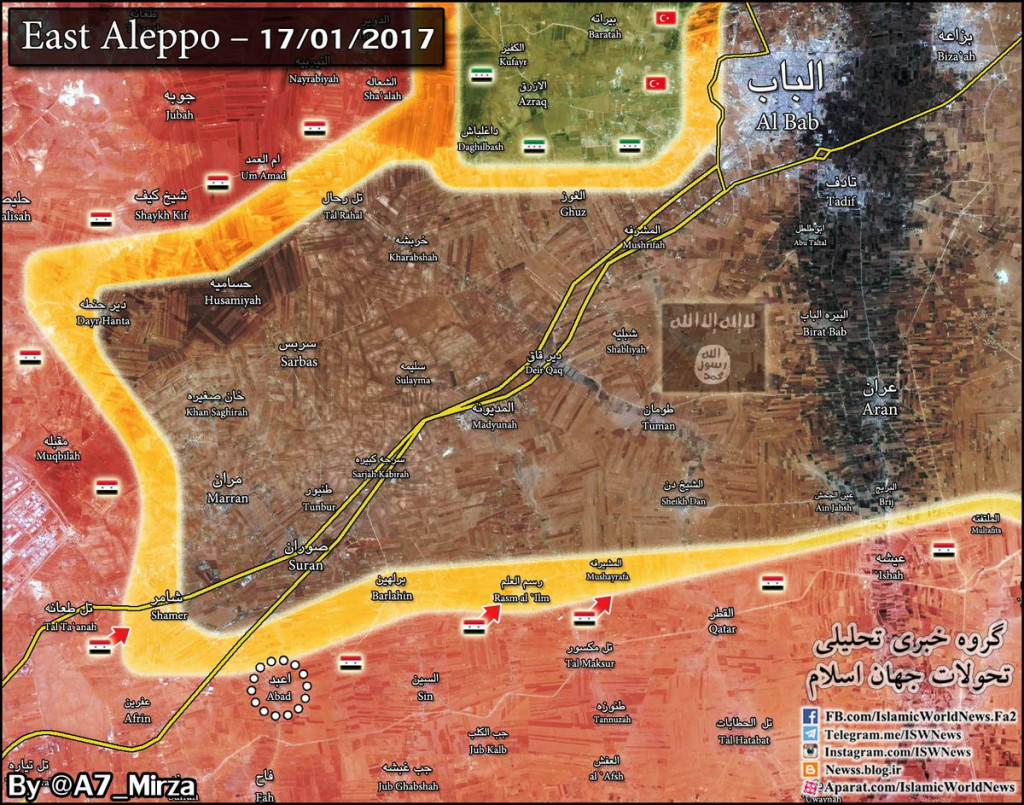 Military Situation In Eastern Aleppo Countryside (Map Update)