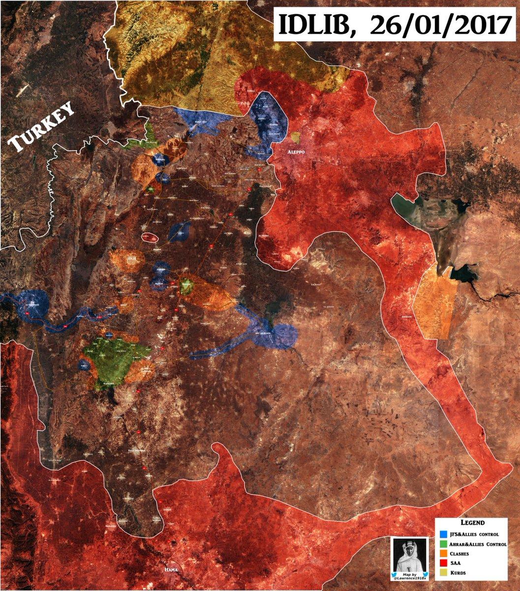 Al-Nusra (Al-Qaeda) Continues To Fight Against Rival Groups In Idlib, Aleppo