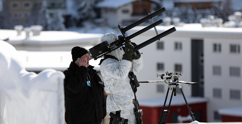 World Economic Forum in Davos Is Now Protected with Anti-Drone Guns (Photo)