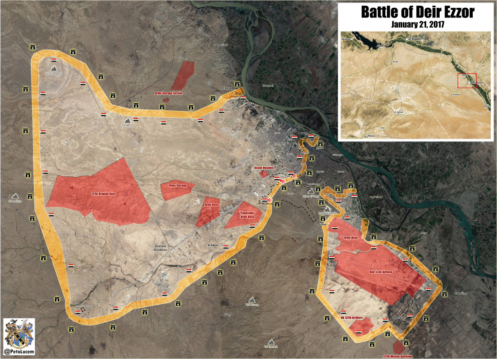 Overview Of Military Situation In Deir Ezzor On January 22, 2017