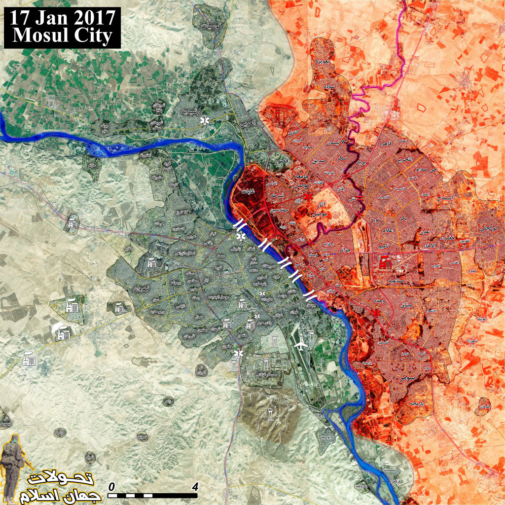 Iraqi Security Forces Gain Contol Of 5 Mosul Bridges, Sets Up Control Of Eastern Part Of City