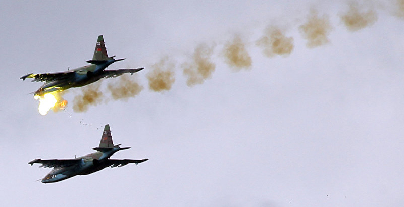 Russian Aerospace Forces Pound Terrorists' Bases in Aleppo Countryside