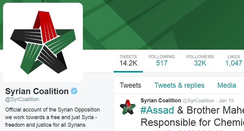 """Saudi Embassy Manages Official Twitter Account Of """"Syrian Opposition"""""""