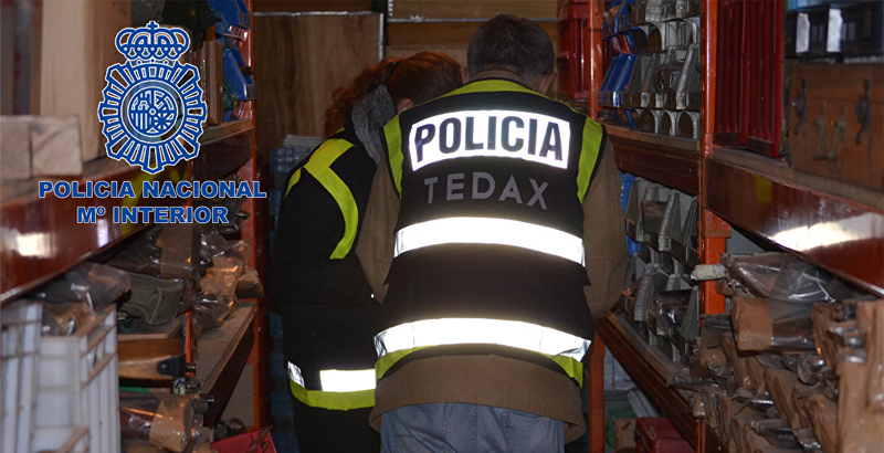 Spanish Police Seize €10mn Worth of Black Market Weapons (Photo & Video)