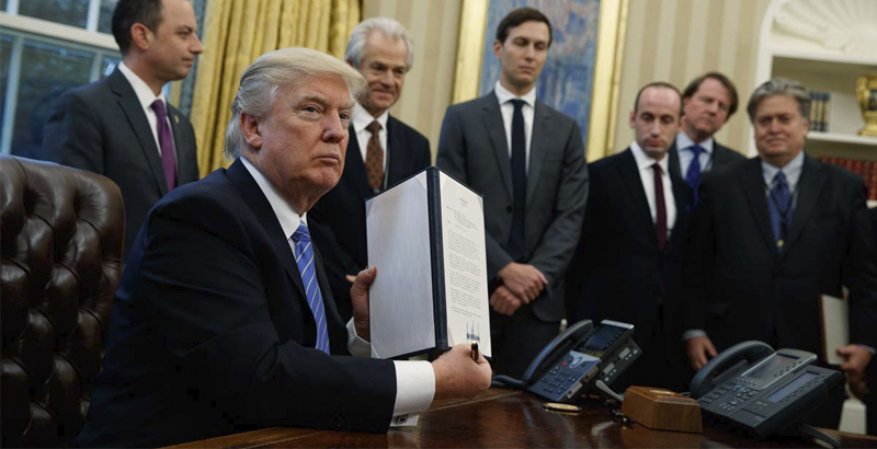 President Trump Signs Executive Order Temporarily Halting All Refugees
