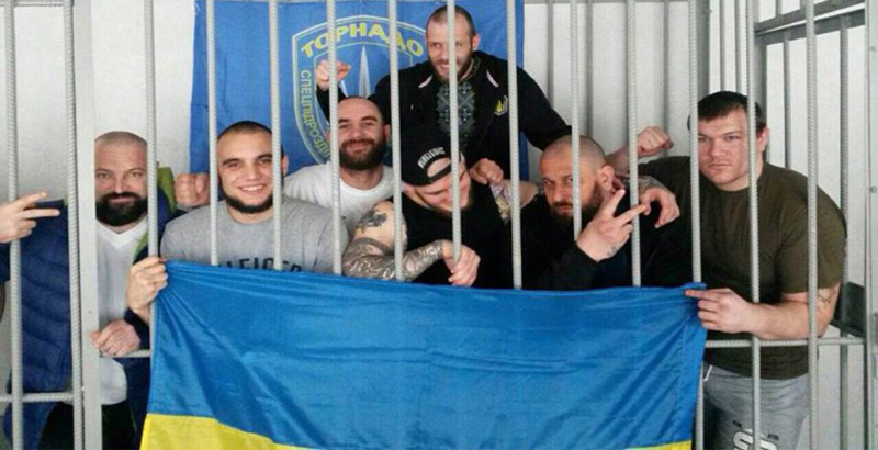 Members of Ukrainian 'Volunteer Battalion' Attack Security Staffs of Remand Prison (Video)