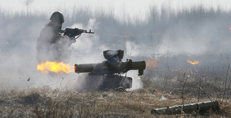 Ukrainian Army Shells Civilian Vehicle with Antitank Missile System
