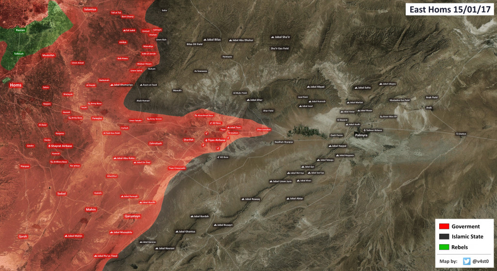 Syrian Army Advancing East Of Tyas Airbase, Retakes Jihar Junction From ISIS - Reports