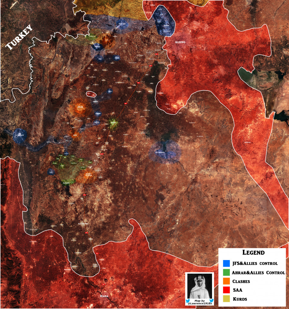 Map Of Rebel Infighting In Syrian Province Of Idlib